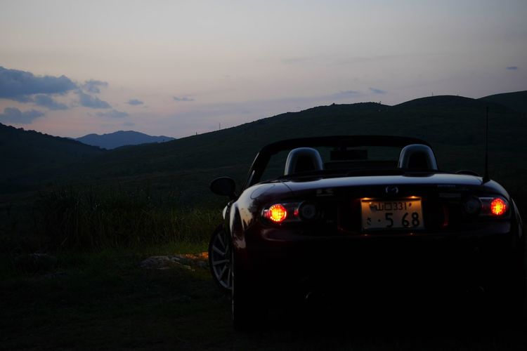 Mazda Miata Mazda Mazda Miata いつか辿り着く場所 Sunset No Filter, No Edit, Just Photography Eye Em Japanese View Greenfield Mode Of Transportation Transportation Car Motor Vehicle Sky Land Vehicle Mountain