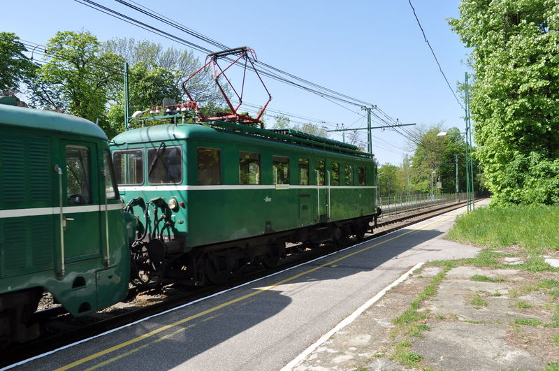 Day Green Color Mode Of Transport Outdoors Public Transportation Train - Vehicle Transportation Tree