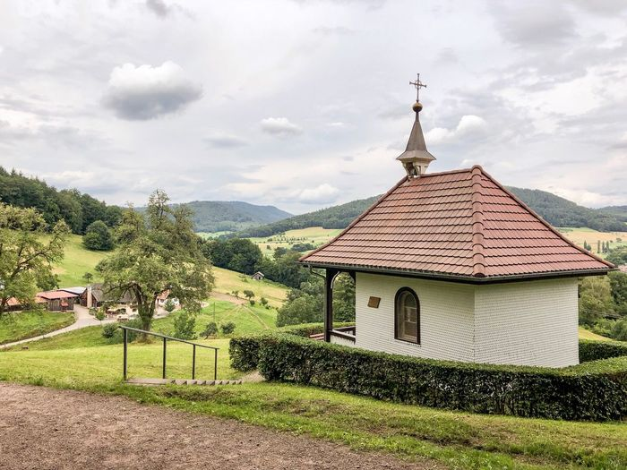 Chapel of St Konrad Architecture Built Structure Cloud - Sky Building Exterior Sky Building Tree Place Of Worship Spirituality