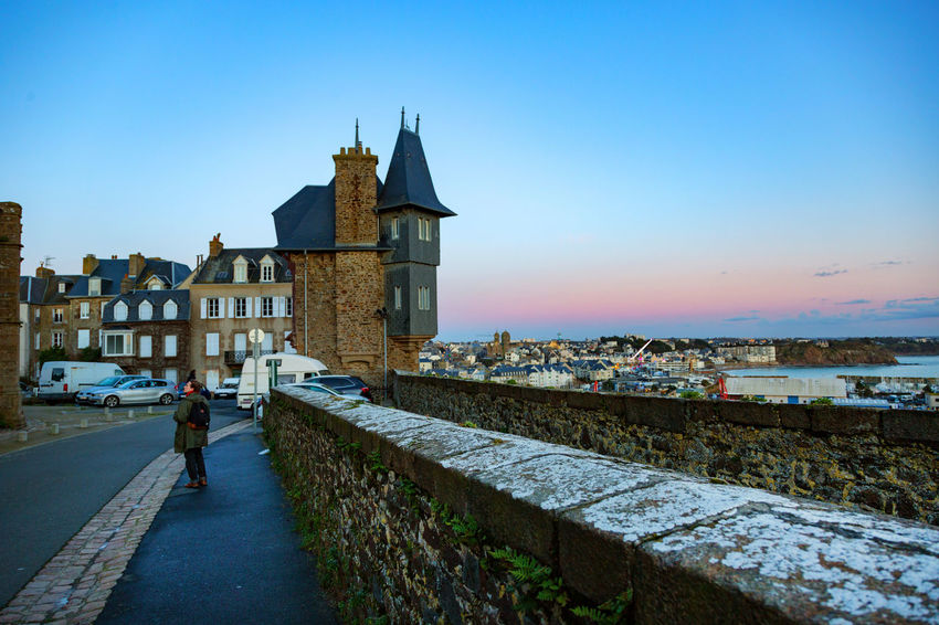 France Normandie Architecture Building Exterior Built Structure Clear Sky Day Full Length Granville History La Manche Leisure Activity Lifestyles Nature Outdoors People Real People Sky Walking Women