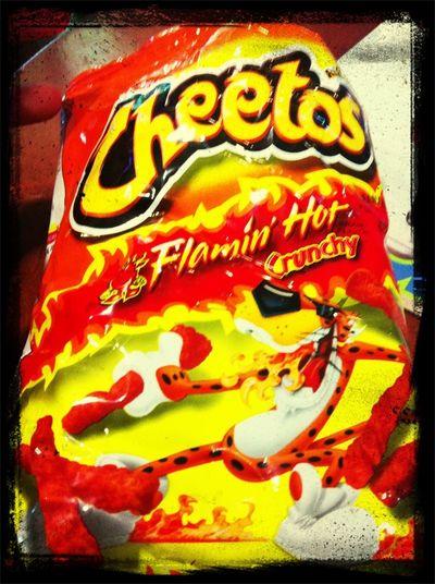 Eatin Hot Cheetos