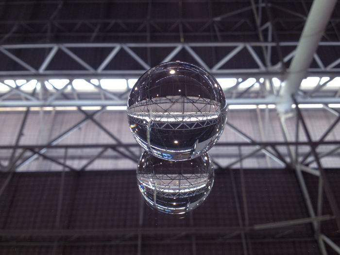 Architecture Close-up Crystal Ball Crystal Glassware Day Glass Indoors  Metal Mirror No People Peace Reflection Roof Sphere Structure Transparent