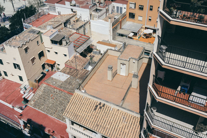 Mallorca Palma De Mallorca Roof Architecture Balcony Building Exterior Built Structure City Day High Angle View No People Outdoors Residential  Residential Building Roof Roof Top