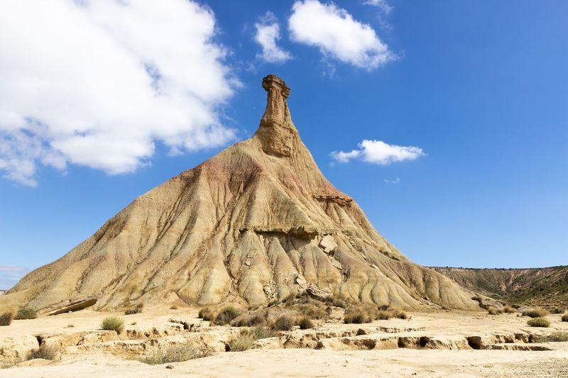 Las Bardenas Desert SPAIN Monument Travel Destinations Landscape Beauty In Nature Environment Tranquility Pyramid Sand