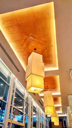 Architecture Low Angle View Built Structure Yellow No People Indoors  Lanterns Decoration Design Big Lantern