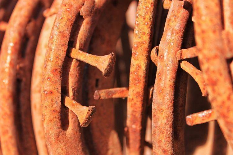 Horseshoes Horseshoe Nails Old Rusty