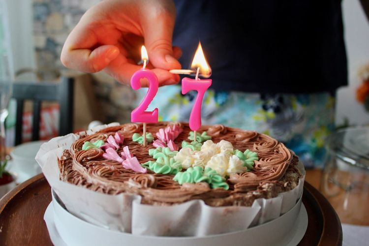 Birthday Birthday Cake Birthday Candles Cake Candle Celebration Close-up Cupcake Day Dessert Flame Food Food And Drink Freshness Human Body Part Human Hand Indoors  Indulgence Life Events One Person Party - Social Event Sweet Food Temptation Unhealthy Eating Visual Feast
