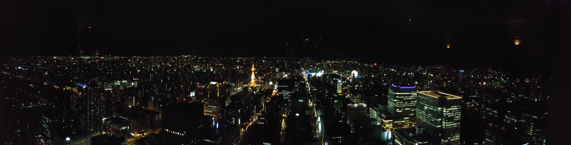 Panoramic Photography Nightview Of Sapporo Downtown From Rooftop JR Tower Japan Photography Version 1