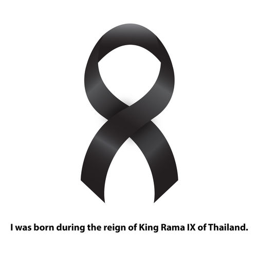 I was born during the reign of King Rama IX of Thailand. Black Commemorate King King Of Thailand King Rama 9 King Rama IX Mourn Reign IX Reign9 White Background