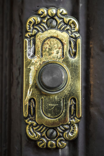 Antique Button Buzzer Close-up Colours Day Door Doorbell Gold Colored Indoors  Metal No People Swimming