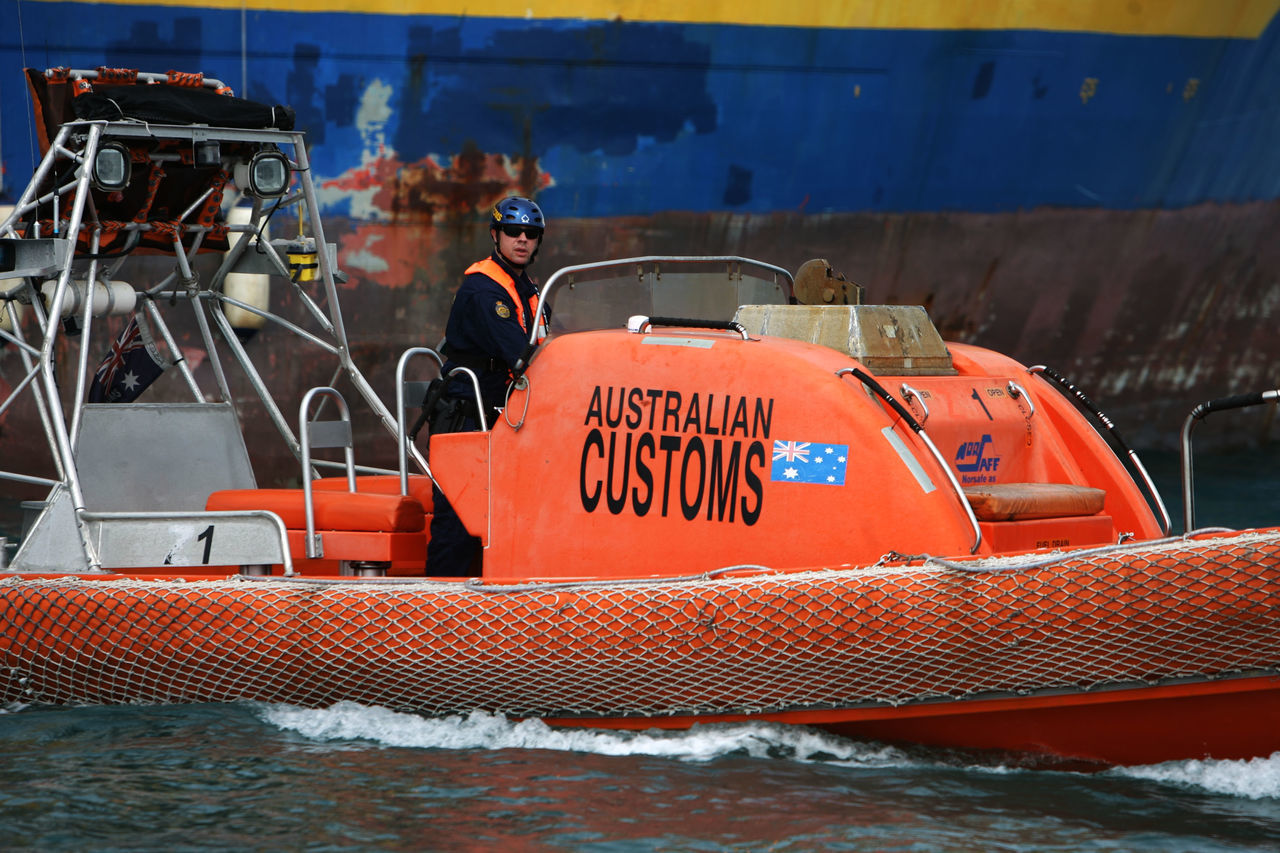 orange color, day, transportation, red, outdoors, nautical vessel, no people, water, close-up