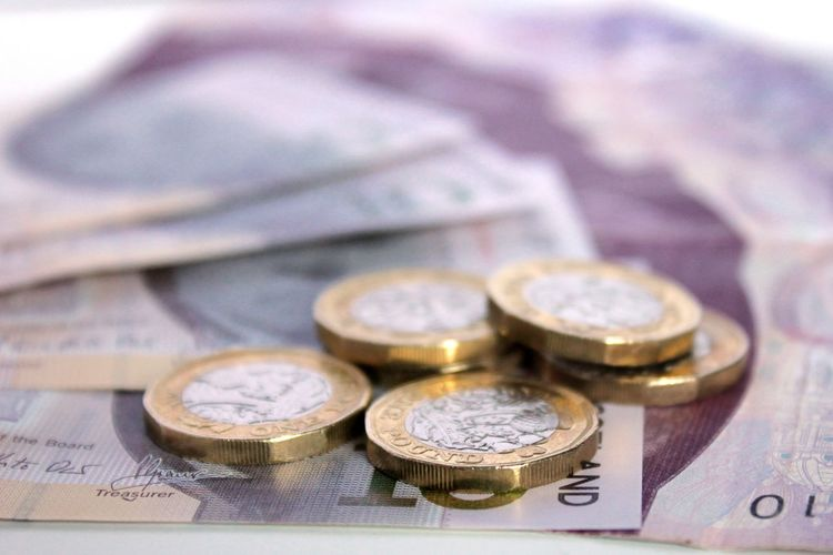 Sterling British Money Close-up Coin Currency Day Finance Indoors  New Pound Coins No People Scottish Bank Notes Wealth