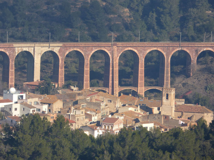 Arch Architecture Built Structure Day No People Outdoors The Village Of Duesaigües With Its Arched Bridge - Baix Camp-Tarragona Tree