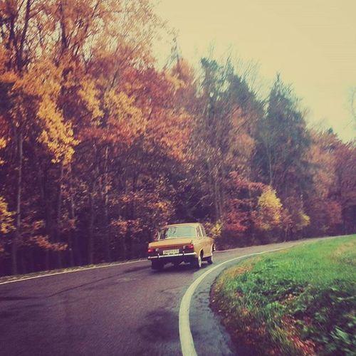 Takhle krásně ladit s podzimem... Veteran Auto Podzim Cesta Priroda Naceste Superkara Nature Autumn Oldtimer Oldcar Car Fall Ontheroad Igerscz Nas_svet Countryside