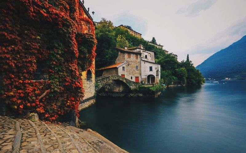 Nesso, Lake Como. Italy Lake Como Nesso Travel Wanderlust Day Time Water Scenics No People Outdoors Beauty In Nature Lake Cjrushphotography