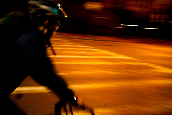 Bike Speeding 2 Beauty In Nature Blurred Motion Boston Boston Common Comuting Cycling Human Hand Illuminated Indoors  Long Exposure Low Section Men Motion Night One Person People Public Transportation Real People Speed