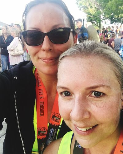 5K for Missoula Marathon Montana Missoula 5k Marathon Race IPhoneography Fun Funtimes ThatsMe Friends Selfie ✌ Sweatyselfie Enjoying Life Self Portrait Lovelife Running Race Day