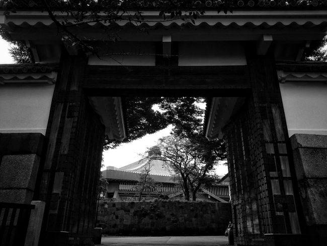 Japanese  Castle Gate Gateway Monochrome Black And White Architecture Light And Shadow Walking Around Hello World Enjoying Life