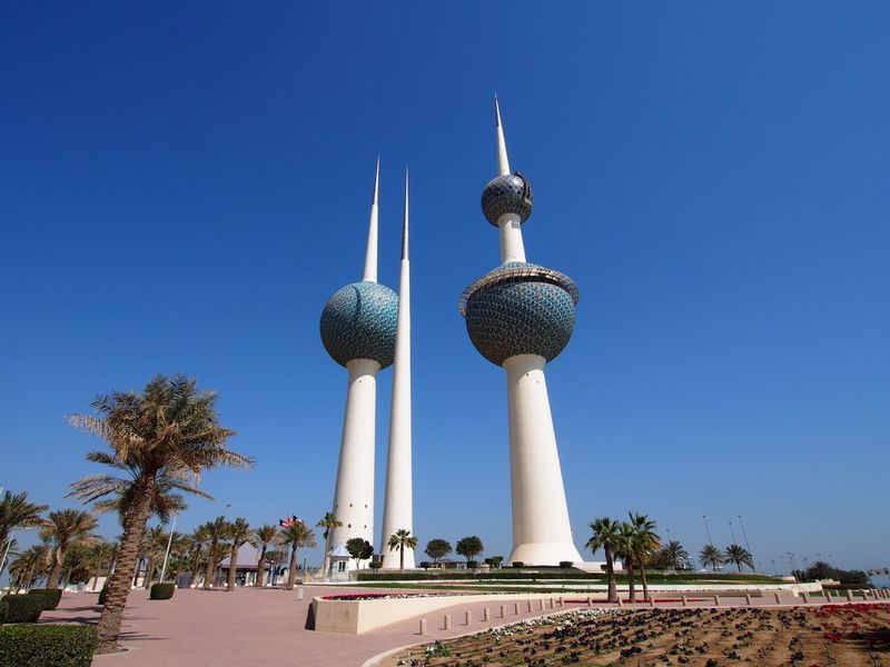 Kuwait Towers Blue Sky