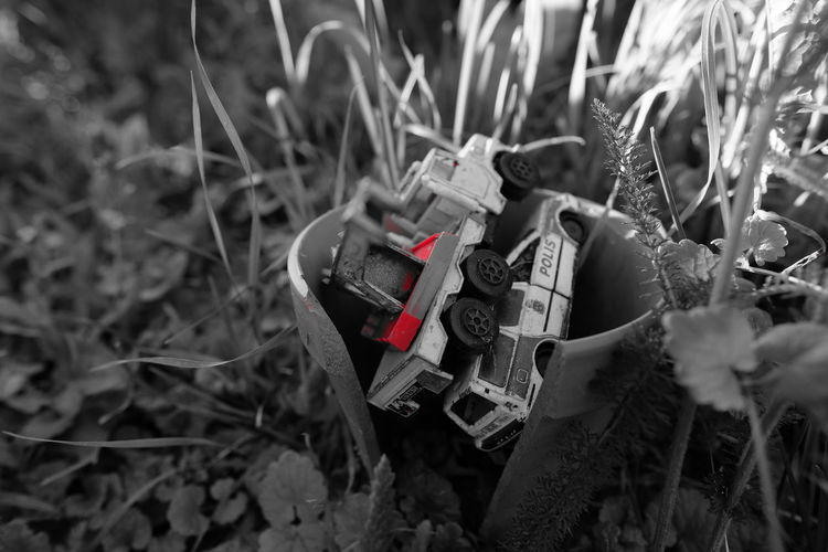 Toys Toys Leksaker Cars Taking Photos Old Red Colorsplash Rott Monochrome Black&white