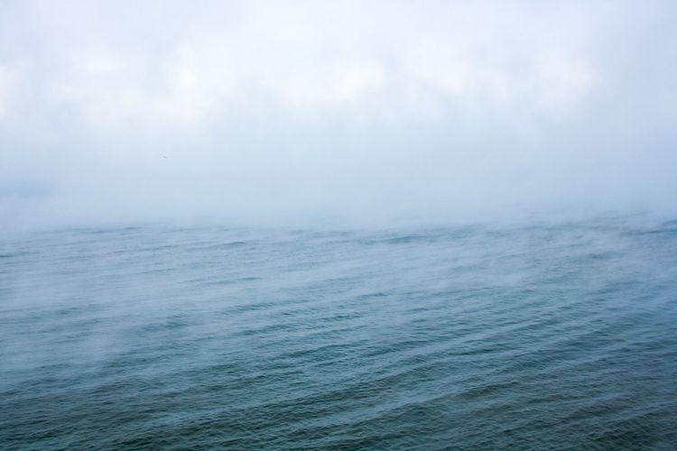 Cold Barents Sea. Sea North Nordic Russia Murmansk Fog Winter Cold Nature Landscape Landscape_Collection Bay