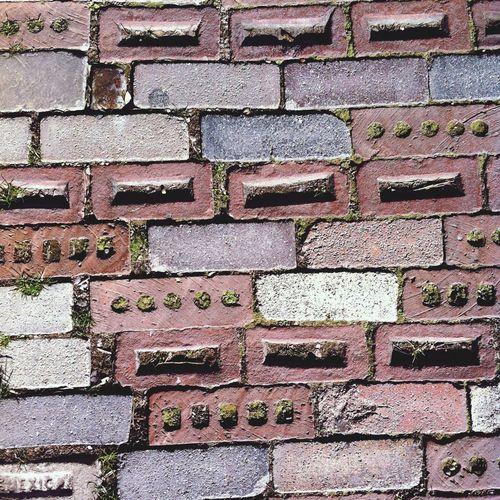 Mismatch Brick sidewalk. Gruene, Tx Architecture Sidewalk
