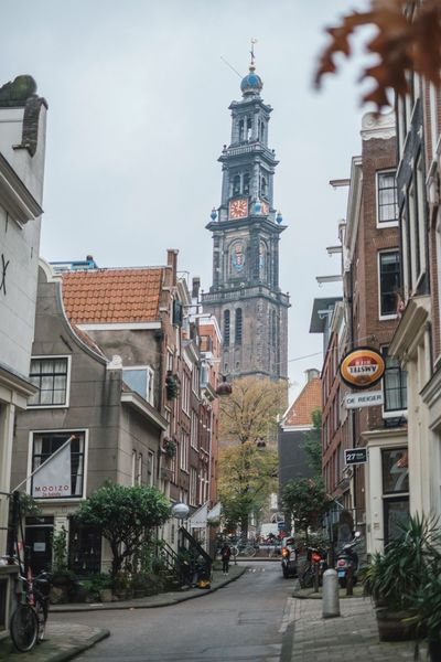 Amsterdam Architecture Building Exterior City Cityscape Clock Clock Face Clock Tower Day No People Outdoors Sky Tower Travel Destinations Tree Urban Skyline
