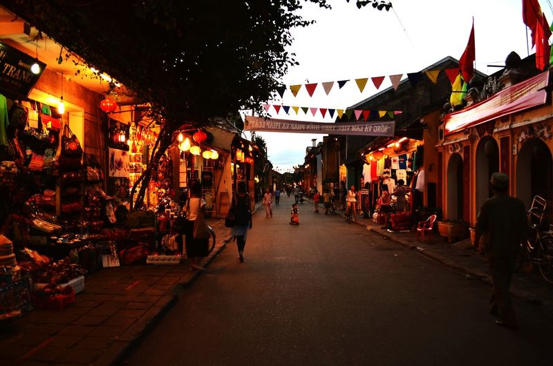 Walking around in the ancient port town of Hoi An Hoi An Ancient Port Town Vietnam Walking Evening