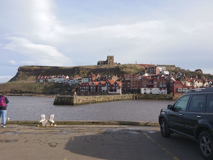 Whitby Abbey Outdoors Abbey Ruins Old Town English Seaside Sea View Sky No People Day Clouds Nature Tranquility Majestic Beauty In Nature Tranquil Scene Buildings Architecture Winter Morning Low Angle View