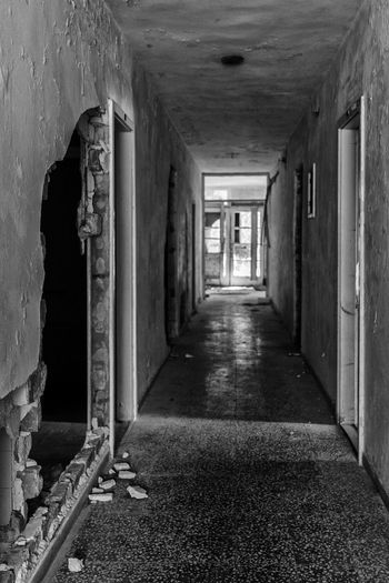 #architecture #exploration #old #whatremains Abandoned Architecture Corridor Indoors  No People