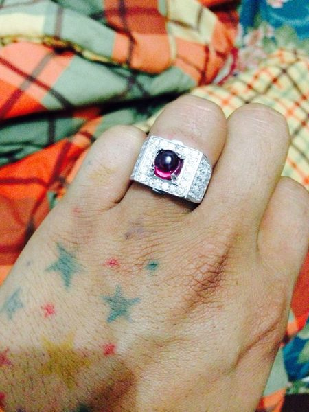My Ruby Gemstones with Diamond finish and Silver Ring body!