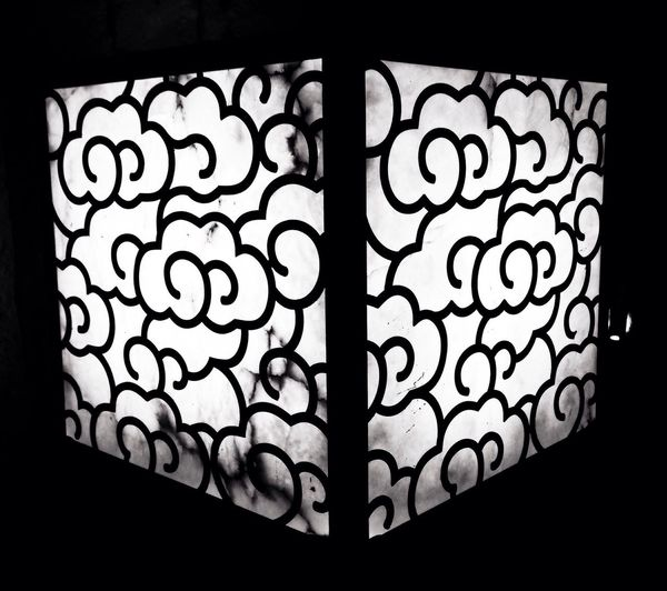 Templo Lamp Blackandwhite Light Design