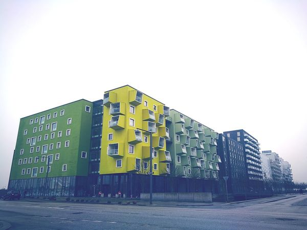 Ørestaden, Copenhagen, Denmark. Keep a EYE on this remarkable place. Its unstoppable, growing and not the last picture you've seen, from the danish capital. Architecture Art ørestad BuildingPorn Buildinglover Green Houses Cph Copenhagen Streets Denmark Is Awesome Dk2017