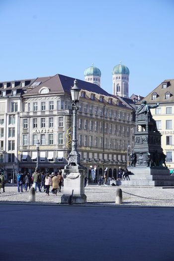 Munich Building Exterior Architecture Built Structure City Clear Sky Large Group Of People Outdoors City Life Travel Destinations Women Day Sky