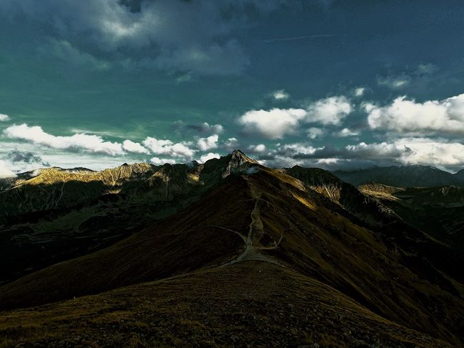 view from Kasprowy wierch to the mountains Nature Photography GoProhero6 Gopro Mountain Cloud - Sky Sky Nature Scenics - Nature No People Tranquility Plant Land Landscape Beauty In Nature EyeEmNewHere