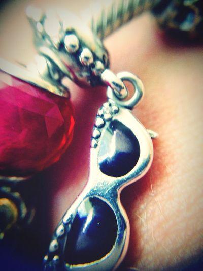 Pandora Bracelet Murano Lunettes Argent Red