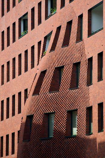 Building, Hamburg, Hafencity Architectural Detail Architecture Architecturelovers Brick Built Structure Bulging Outside Windows