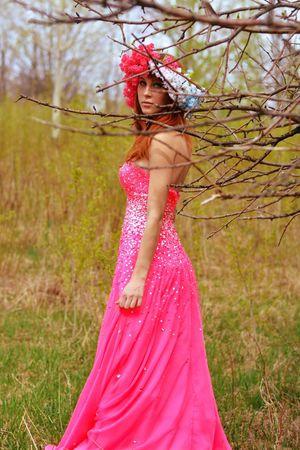 Photo Shoot Flower Crown Model Modeling Fashion Spring Beautiful People Portrait Redhead