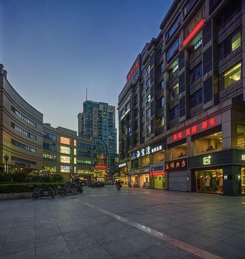 城市之夜 City Clear Sky Sky 南京 南京路 商業 商業區 夜景 大廈 廣場 建築 新街口 時尚 燈光 購物 風景