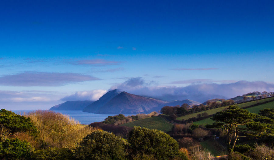 View of Little Hangman's, Combe Martin UK Beauty In Nature Cloud - Sky Day Devon Exmoor National Park Landscape Mountain Nature No People Outdoors Scenics Sky Tree Volcano