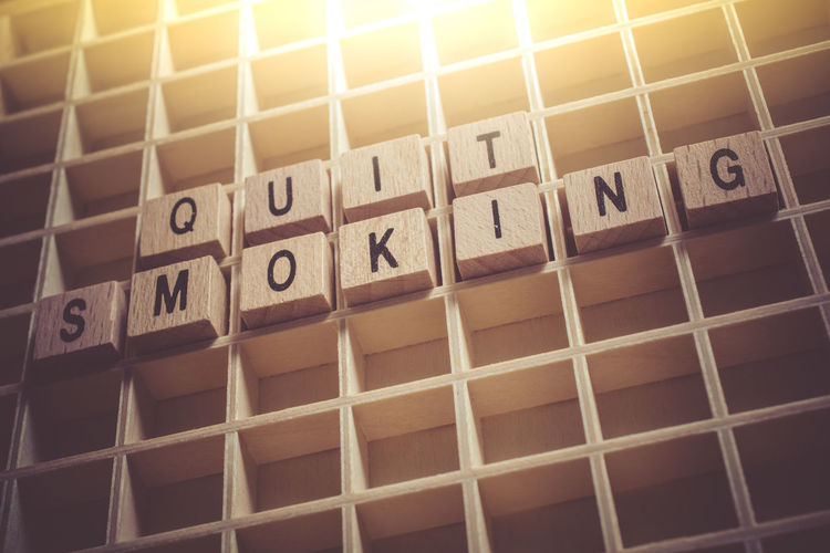 Macro Of The Words Quit Smoking Formed By Wooden Blocks In A Typecase Blocks Cancer Cancle Drugs Smoking Text Tobacco Typecase Wall Addiction Background Board Case Change Cigar Cigarette  Habit Healthy Lifestyle Macro Message Quit Reminder Weed Wooden Words