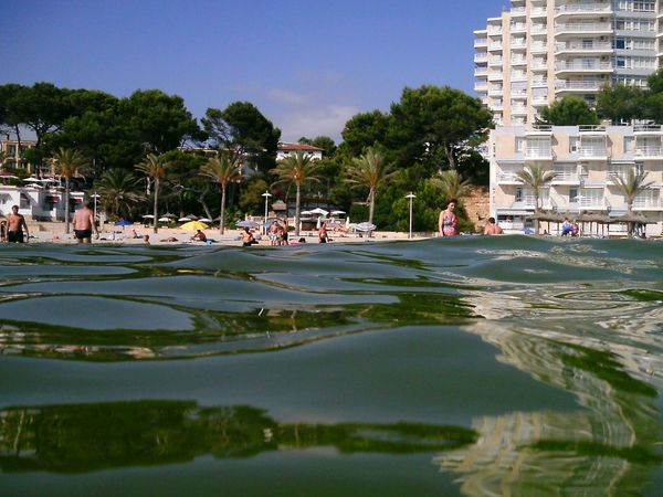 Water Tourism Vacations Beach Beach Front View From Water Mallorca