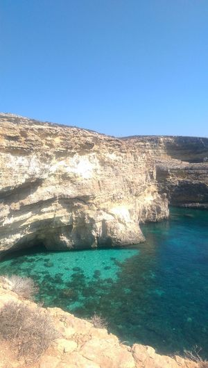 Beaches Of Malta Outdoors Beach Nature No People Steep Coast Steep Cliff Shades Of Blue Turquoise Sea