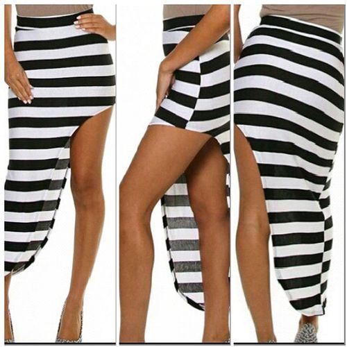 Jail Break Asymmetrical Skirt NikkiesKorner.com