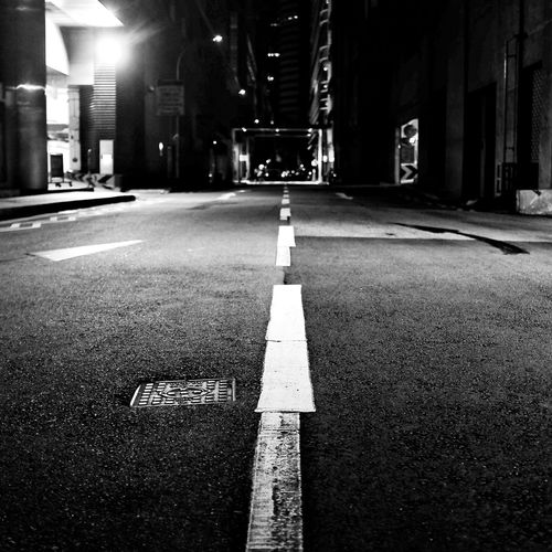 Lonely road on a Sunday night. Taking Photos Night In The City Night Photography Nightphotography Night Scene Cityscapes Cityscape Road Street Photography Streetphotography Streetphoto_bw Blackandwhite Black And White Black & White Black&white Monochrome Open Edit EyeEm Gallery EyeEm Best Shots Learn & Shoot: After Dark Cities At Night First Eyeem Photo