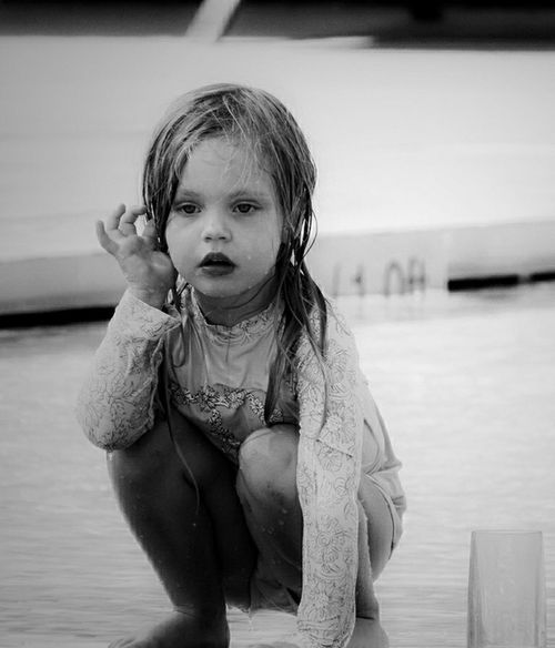 """""""If we all could see the world through the eyes of a child, we would see the magic in everything """" ~Connie Sue~ Childhood Child Children Only One Person One Girl Only Water People Front View Outdoors Real People Portrait Close-up Eye4photography  Outdoors Photograpghy  Bnw_lover Blackandwhitephotography Blackandwhite Black And White Bnw_portraits Children Photography Blac&white  Outdoorphotography Hello World Check This Out Taking Photos"""