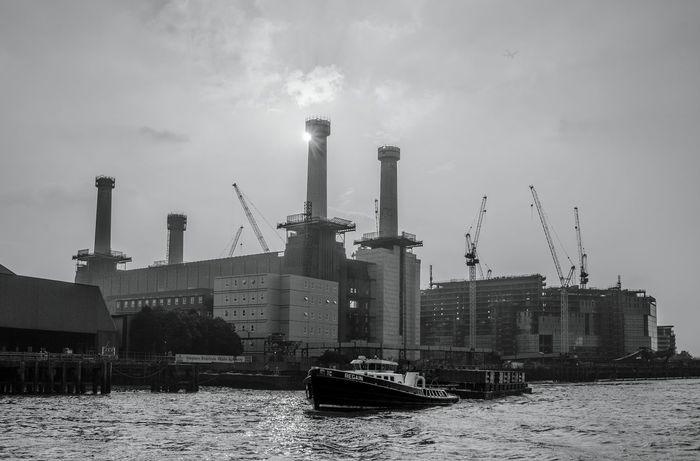 Resurrection. London Architecture Architecture_collection Architecture_bnw Black And White River Battersea Power Station Redevelopment Alucyart Nikonphotography Fine Art Photography Nikon D5100