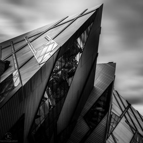 Part of the Michael Lee-Chin addition to the Royal Ontario Museum in Toronto. Downtown Toronto Black And White Architecture Architecture_bw Long Exposure Jasoncrockettphotography Amazing Architecture