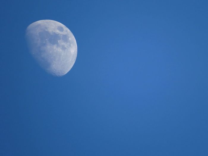 Moon Blue Scenics Beauty In Nature Clear Sky Astronomy Tranquil Scene Low Angle View Germangalimov Copy Space Full Moon Majestic Planetary Moon Night Nature Moon Surface Space Exploration Idyllic Discovery Exploration First Eyeem Photo