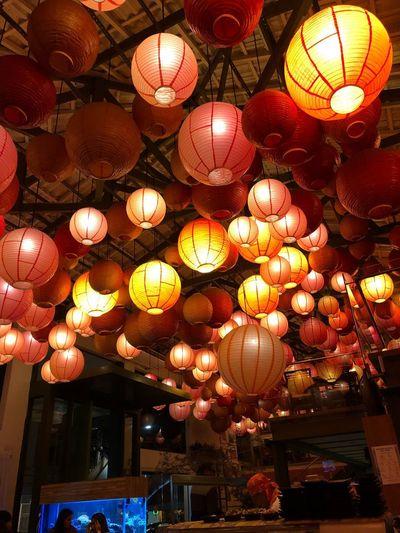 "Kiichi"" Lighting Equipment Hanging Decoration Illuminated Lantern Chinese Lantern Chinese Lantern Festival Celebration Night Light"